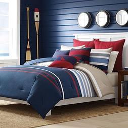 Nautica Reversible Comforter Set, Full/Queen, Size_Name