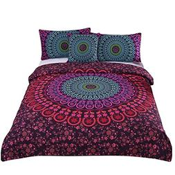 Sleepwish 4 Pcs Mandala Bedding Boho Hippie Bedspread Postur