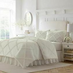 Laura Ashley Adelina Ruffle Comforter Set - White - Size: Tw