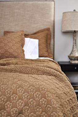Be-You-tiful Home 3-Piece Aimee Coverlet Set, Queen, Gold