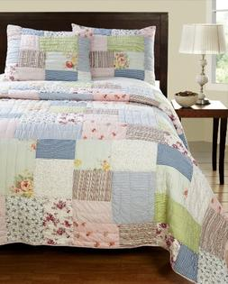 Be-You-tiful Home Alana Patchwork Queen Quilt Set with Sham,