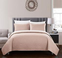 Chic Home Amandla 3 Piece Quilt Set Contemporary Rose Star P