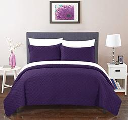 Chic Home Amandla 2 Piece Cover Set Rose Star Geometric Quil