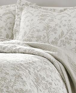 Laura Ashley Amberley Biscuit Reversible 3 Pc. King Size Qui