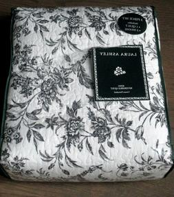 LAURA ASHLEY Amberley Black & White Floral Toile 3pc Cotton