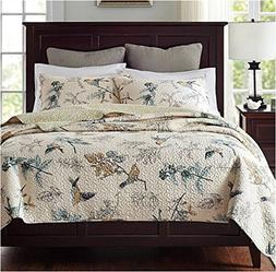 Norson American Country Style Bedding Patchwork Quilt Bedspr