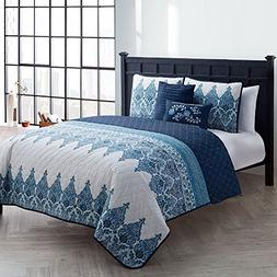 VCNY Andrea Reversible 4 and 5-piece Quilt Set White 4 Piece