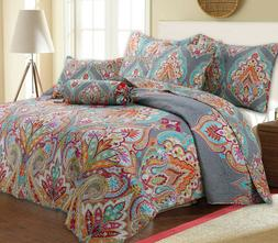Annalise 3-Piece Reversible Quilt Set, Bedspread, Coverlet