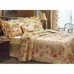 Greenland Home Fashions Antique Rose - Quilt Set Includes Bo