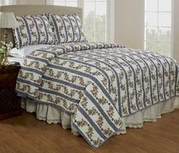 Be-You-Tiful Home Antoinette Quilt Set, Queen, Blue