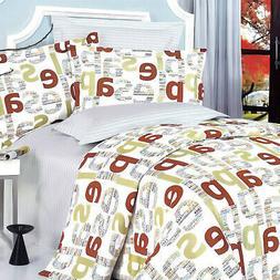 apple letter 100 percent cotton 5pc comforter