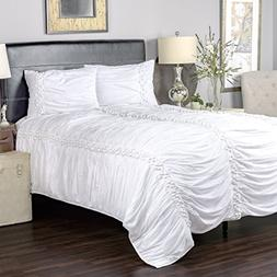 Rizzy Home Arden Loft Thistle Terrace Collection Pomp White