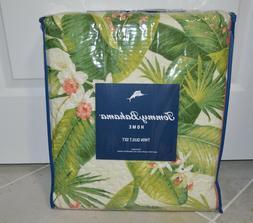 Tommy Bahama Aregada Dock Reversible Twin Quilt Set in Ecru