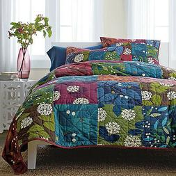 Sale Handmade Jane Quilt Set 3pcs Bedspread Shams Patchwork