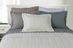 Ashley Fine Stitched 100% Long-Staple Cotton Quilt Set, Brai