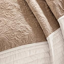 Asstd National Brand Danville 7pc Quilted Coverlet Set Beige