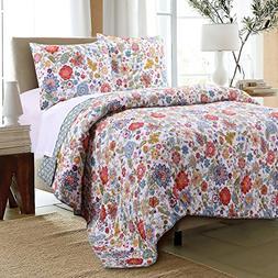 Greenland Astoria White Quilt Set, 3-Piece Full/Queen