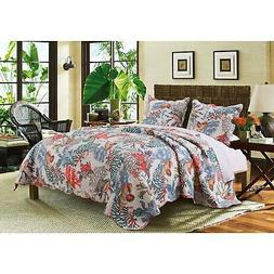 Barefoot Bungalow Atlantis Quilt and Sham Set