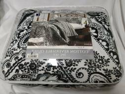 Aubree 3-Piece Quilt Set by Lush Decor Full/Queen New Black