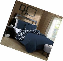Avondale Manor 5-Piece Quilt Set, King, Navy