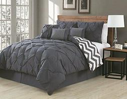 Avondale Manor 7-Piece Ella Pinch Pleat Comforter Set King C