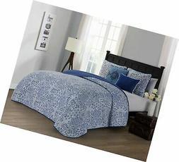 Avondale Manor Fresco 5-piece Quilt Set, Blue, King