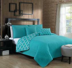 Avondale Manor Griffin 5Piece Quilt Set,Aqua,King
