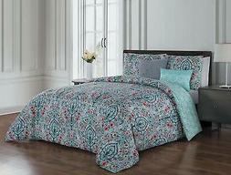 Avondale Manor Trista 5-Piece Comforter Set, Queen, Multi