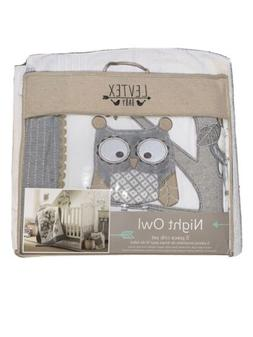 Levtex Baby Night Owl 5Piece Crib Bedding Set Quilt Cover Bl