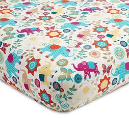 Levtex Home Baby Zahara Collection Print Fitted Crib Sheet