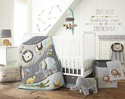 Levtex Baby Zambezi 5 Piece Crib Bedding Set, Quilt, 100% Co