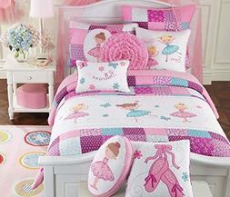 ballerina dance princess bedding quilt