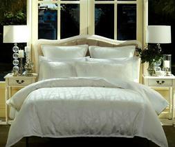 Bamboo White Quilt Duvet | Doona Cover Set | Features Jacqua