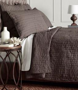 Amity Home Basecamp Gray 100% Cotton Queen Quilt Coverlet BR