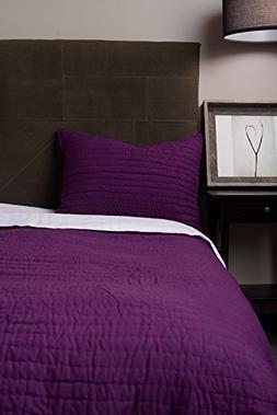 basic purple quilt set