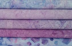 Batik Stashbuilder Set SE - Five One Yard Cuts in Purple Ton