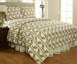 Be-You-tiful Home Antoinette Quilt Set, Queen, Yellow
