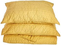 Be-You-tiful Home Basic Golden Yellow Queen Quilt Set