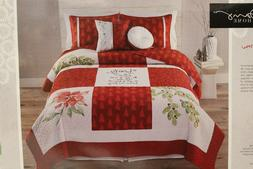 Kathy Davis Home Beauty of the Season Full/Queen 3pc Quilt S