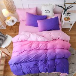 Bedding <font><b>set</b></font> Queen size Purple Pink Blue