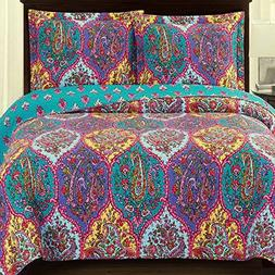 Bedspread Coverlet Quilt Sham Set Single Bed Twin/Twin XL Si