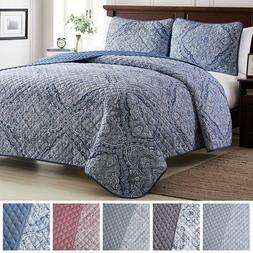 Mellanni Quilt Set 3-Piece Oversized Bedspread Coverlet Set