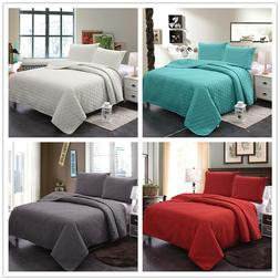 Bedspread Coverlet Set Comforter Bedding Cover 3-Piece Quilt