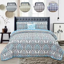 Quilt Set 4 Piece Reversible Bedding Set Hotel Collection Qu