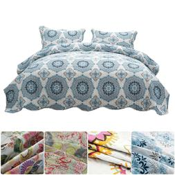 3-Piece Bedspread Quilt Coverlet Quilt Set Brushed Microfibe