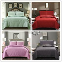 Bedspread Quilt Set - Soft Microfiber Lightweight Coverlet Q
