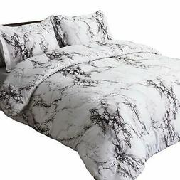 Bedsure Marble Printed Comforter Set  - 3-Piece Set - Super