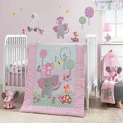 Bedtime Twinkle Toes 5 PC Baby Nursery Crib Bedding Set w/ B