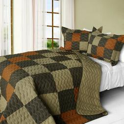 believe love 3pc vermicelli quilted patchwork quilt