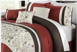 Pem America Bella Donna 7 Piece Full Comforter Set Brown/Bur